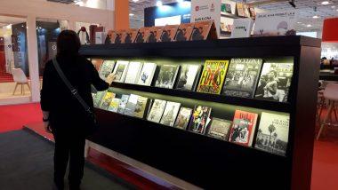 Els llibres editats i coeditats per l'Ajuntament de Barcelona, a la Fira de Frankfurt.