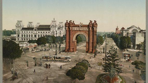 L'Arc de Triomf i el Palau de Justícia