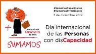 Gráfica del Día Internacional de las Personas con Discapacidad. Sumamos Capacidades. Sumamos Diversidades. 3 de diciembre