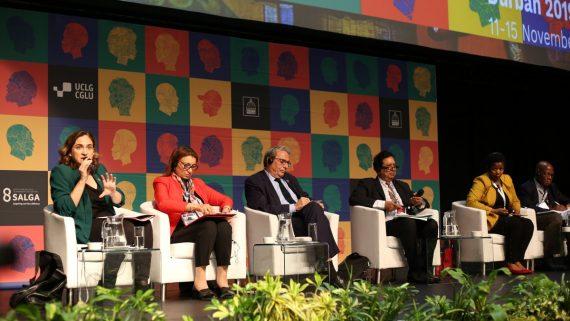 Ada Colau al congrés mundial de CGLU.