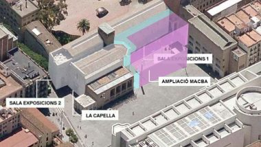 Vista aèria del nou edifici del MACBA