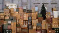 Pessebre, skyline, nadal, benvinguda màgia, plaça Sant Jaume
