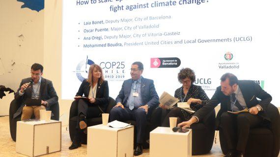 Laia Bonet a una sessió de la COP25.