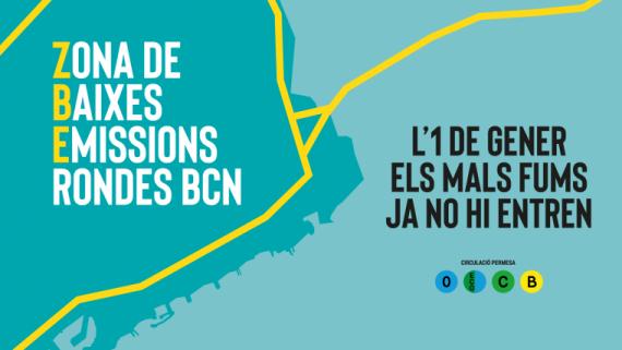Gràfica de l'engegada de la Zona de Baixes Emissions a Barcelona