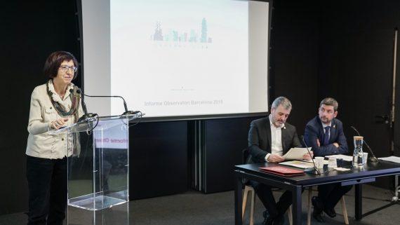 Jaume Collboni a la presentació de l'Observatori Barcelona.