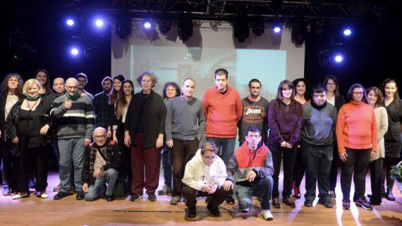 Foto de família d'una de les entitats participants en el projecte