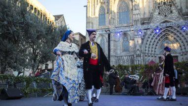 Esbart, dansaires, Santa Eulàlia, Plaça de la catedral