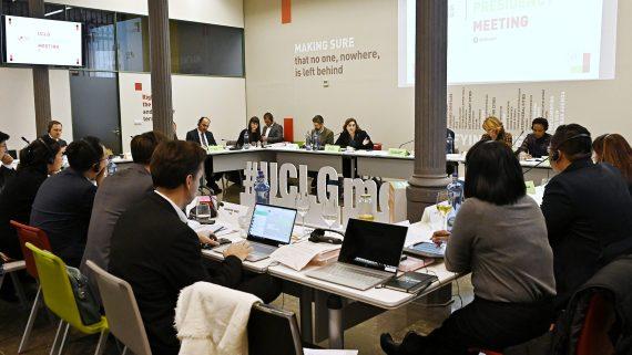 Reunió de la presidència de CGLU.