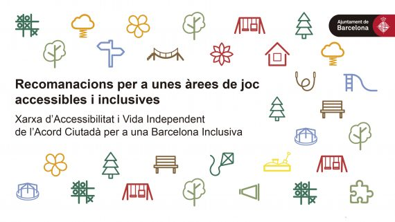 Icones vinculades a les àrees de joc accessibles i inclusives