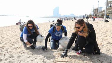 Recollida de residus, platges, litoral, medi ambient, sostenibilitat, emergència climàtica, residu zero, Barcelona
