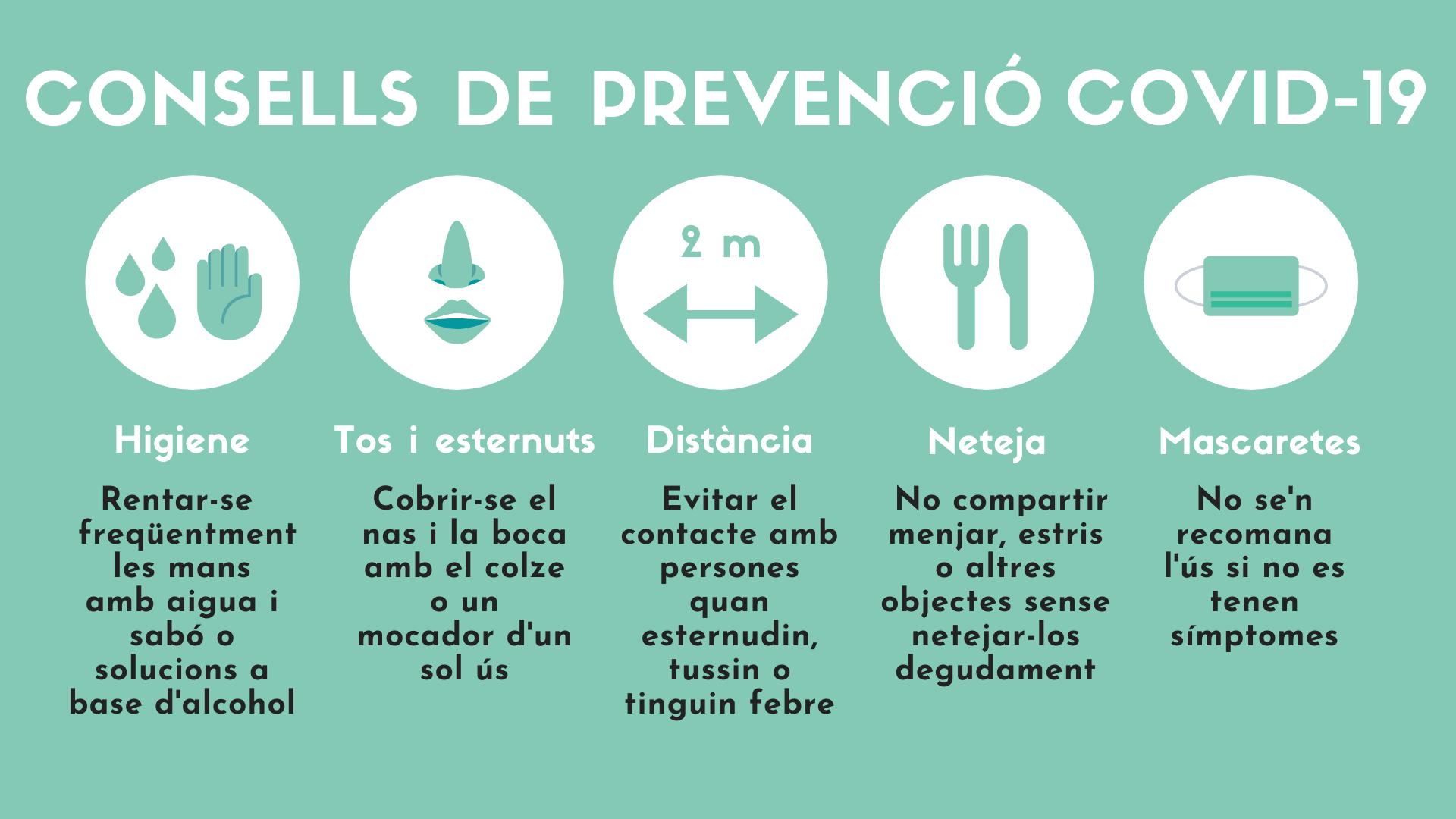 Resultado de imagen de recomanacions covid en catala