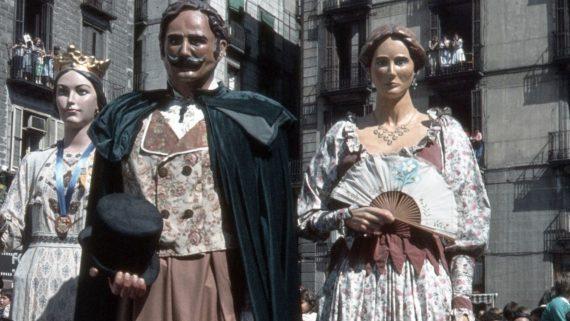 Gegants vells de Gràcia. 1984. Arxiu Badal.