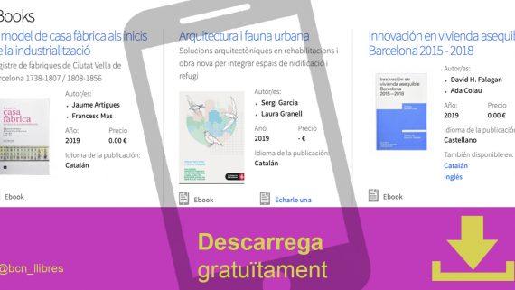 Llibres per descarregar gratuïtament al web de Barcelona Llibres