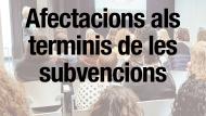 Afectació a la convocatòria general de subvencions de l'ajuntament de barcelona