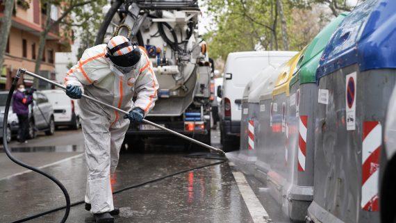 Servei de neteja de Barcelona, neteja, Barcelona, Covid-19, desinfecció, coronavirus