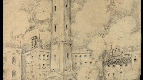 Revolta de les Quintes a Gràcia. 1870.  Gravat Febrés, Eduard 01/01/1930 - 01/01/1934. AHCB02076