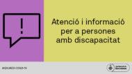 Baner Atenció i informació per a persones amb discapapacitat