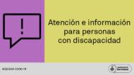 Baner Atención e información para personas con discapacidad