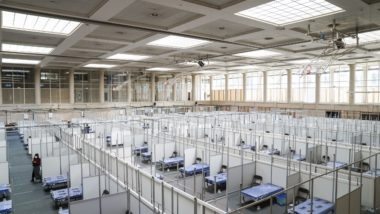 Imatges Barcelona, Covid-19, serveis essencials, salut, sanitat, Pavelló salut, INEFC, Hospital Clínic