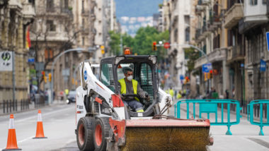 Via Laietana, Barcelona, obres, desconfinament, mobilitat, covid-19, voreres