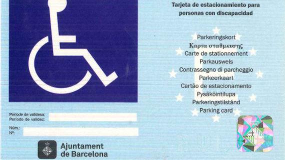 Targeta d'aparcament per a persones amb discapacitat