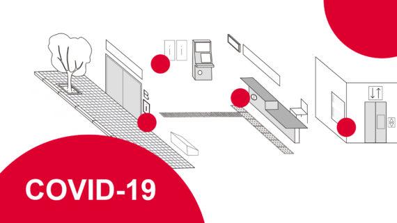 Dibujitos Banner con pictogramas sobre medidas de accesibilidad en los servicios