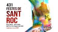 Cartell de les Festes de Sant Roc a la plaça Nova 2020