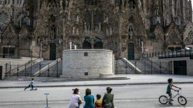 Sagrada Família, desconfinament, família, infants, passeig, covid-19, Barcelona