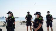Guàrdia Urbana de Barcelona, GUB, dispositiu de platges, platges, Barcelona, covid-19