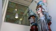 Gegants Xemeneies del Poble-Sec al Centre Cultural Albareda
