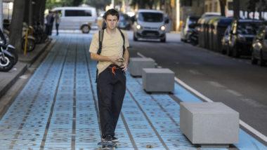 skate, patí, panot blau, mobilitat
