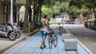 Panot blau, bicicleta, mobilitat sostenible, passeig