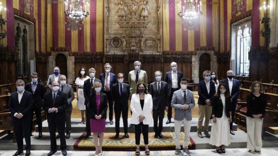 Reunión del patronato de Mobile World Capital Barcelona en el Ayuntamiento