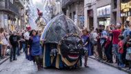 Tarasca de Barcelona al Seguici Inaugural de la Mercè