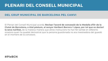 Proposició Ple Setembre 2020 BCN Canvi