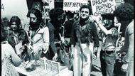 Biel Mesquida, Claudi Montañá i Quim Monzó, 1977.