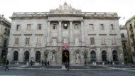 Ajuntament de Barcelona, façana, dol, llaç negre