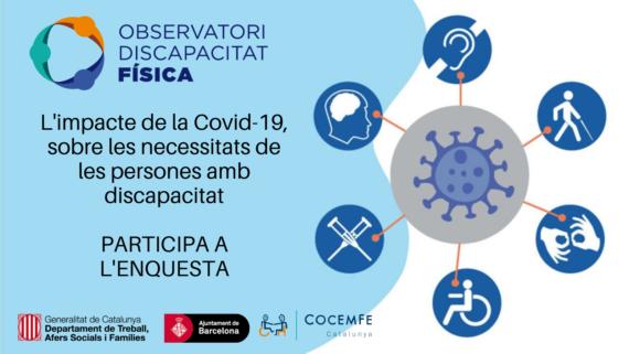 Estudi sobre les necessitats de les persones amb discapacitat i malalties cròniques arrel de la pandèmia.