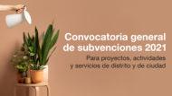 Banner naranja de la Convocatoria General de subvenciones de 2021.