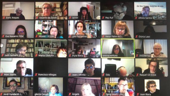 La reunió va ser en format online a causa de la pandèmia.