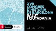 Banner del XVII Congrés d'Història de Barcelona, que aquest any serà sobre Salut i Ciutadania