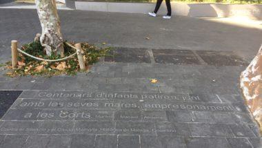 inscripcions al paviment, monument presó de dones