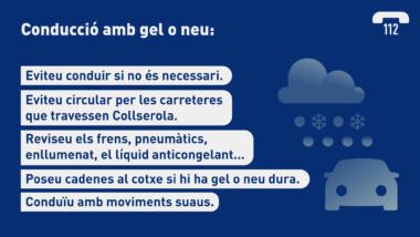 Activada l'alerta per neu i gel