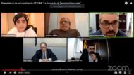 Captura de pantalla de la reunión online para presentar el estudio de ECOM. Participó el regidor del IMPD, Joan Ramon Riera.
