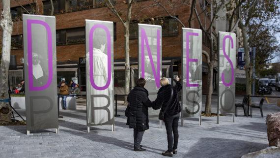 Barcelona 14.12.2019  Inauguració Monument Memorial, Presó Dones de les Corts.   Foto: Laura Guerrero/Ajuntament de Barcelona.