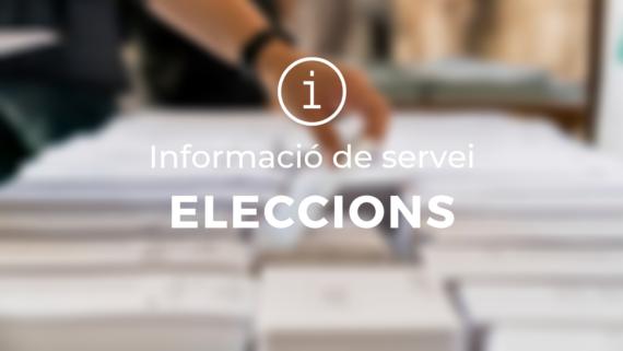 Informació de servei eleccions 14F
