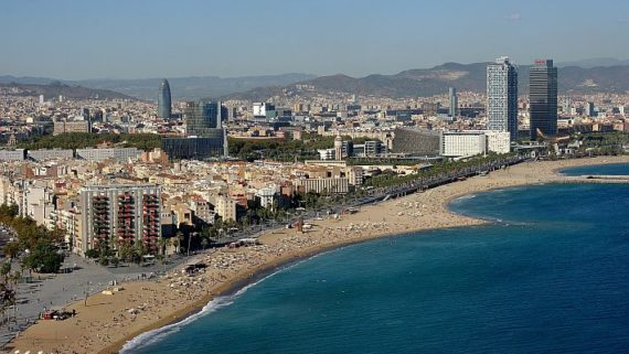 Vista panoràmica del litoral de Barcelona