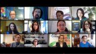 Foto dels participants al debat en línia sobre inclusió digital celebrat a les Nacions Unides el febrer de 2021digital Naci