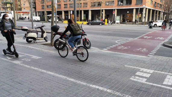 Carril bici Gran Via c