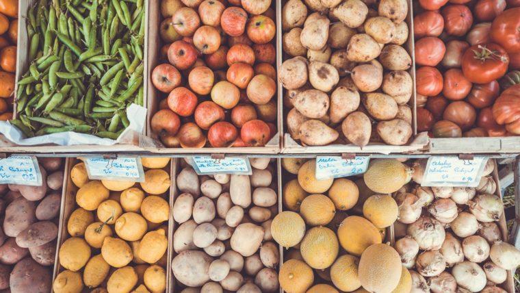 Verdures en un mercat